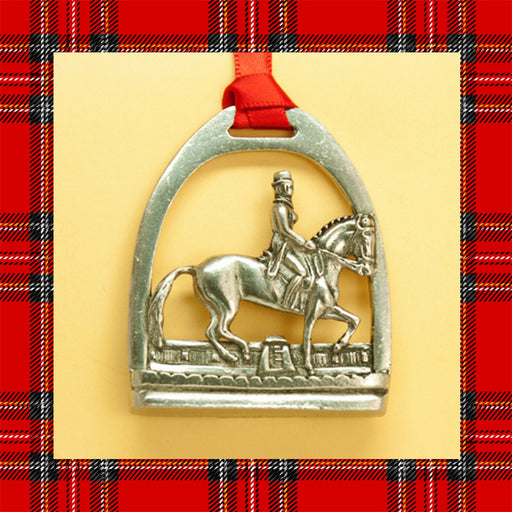 Dressage Piaffe Pewter Ornament