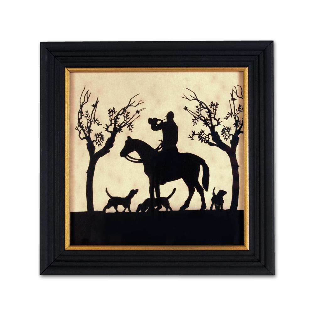 Calling the Hounds - Equestrian Silhouette Art