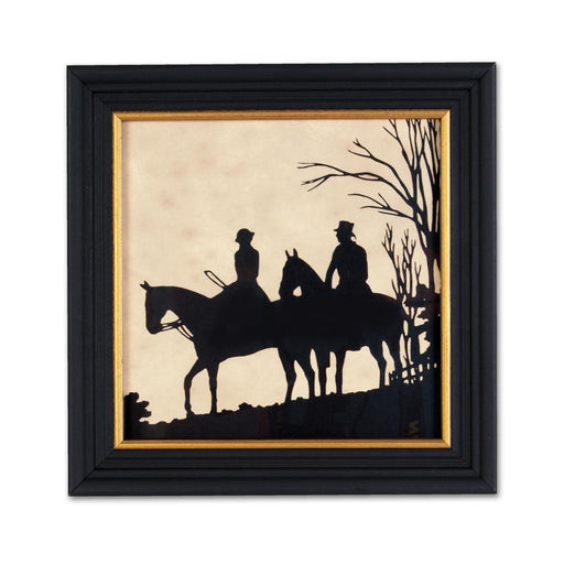 The Field Horses - Equestrian Silhouette Art