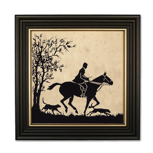 To the Hunt - Equestrian Silhouette Art