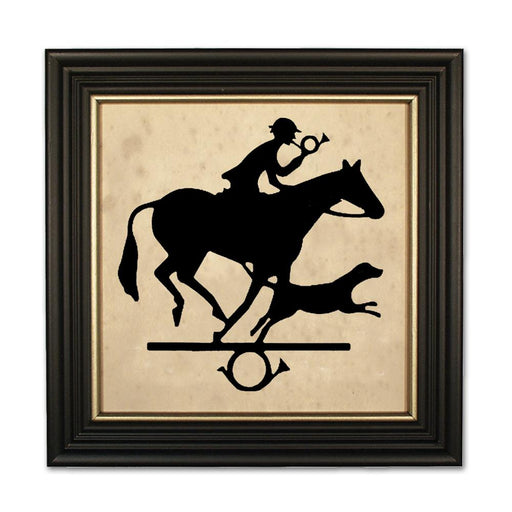 The Foxhunter - Equestrian Silhouette Art