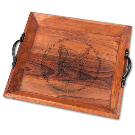 Fox Wood Tray - Square