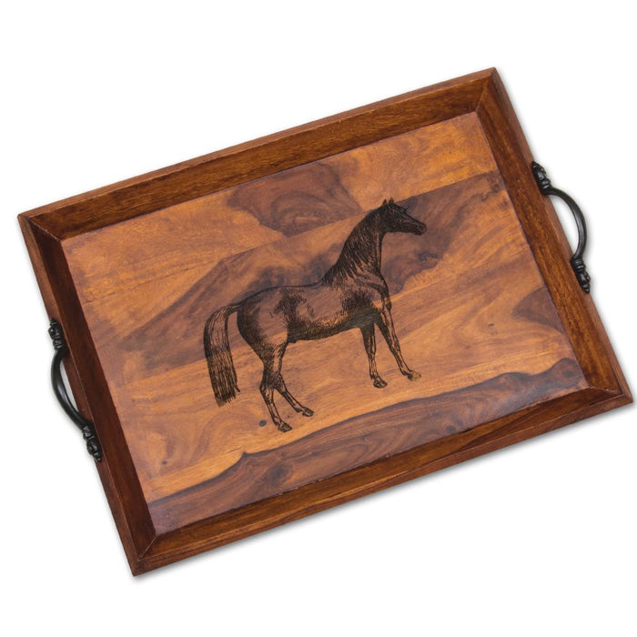 Lexington Equestrian Wood Serving Tray