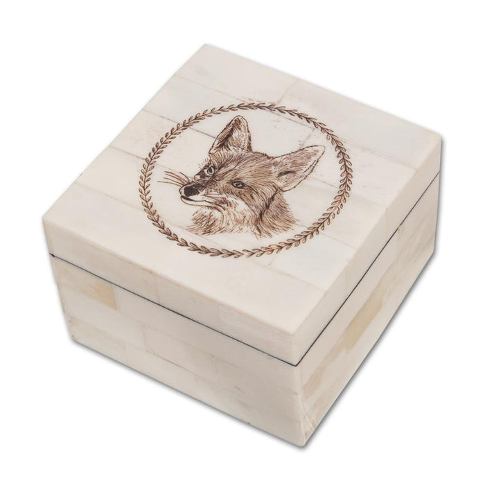 Fox Scrimshaw Box
