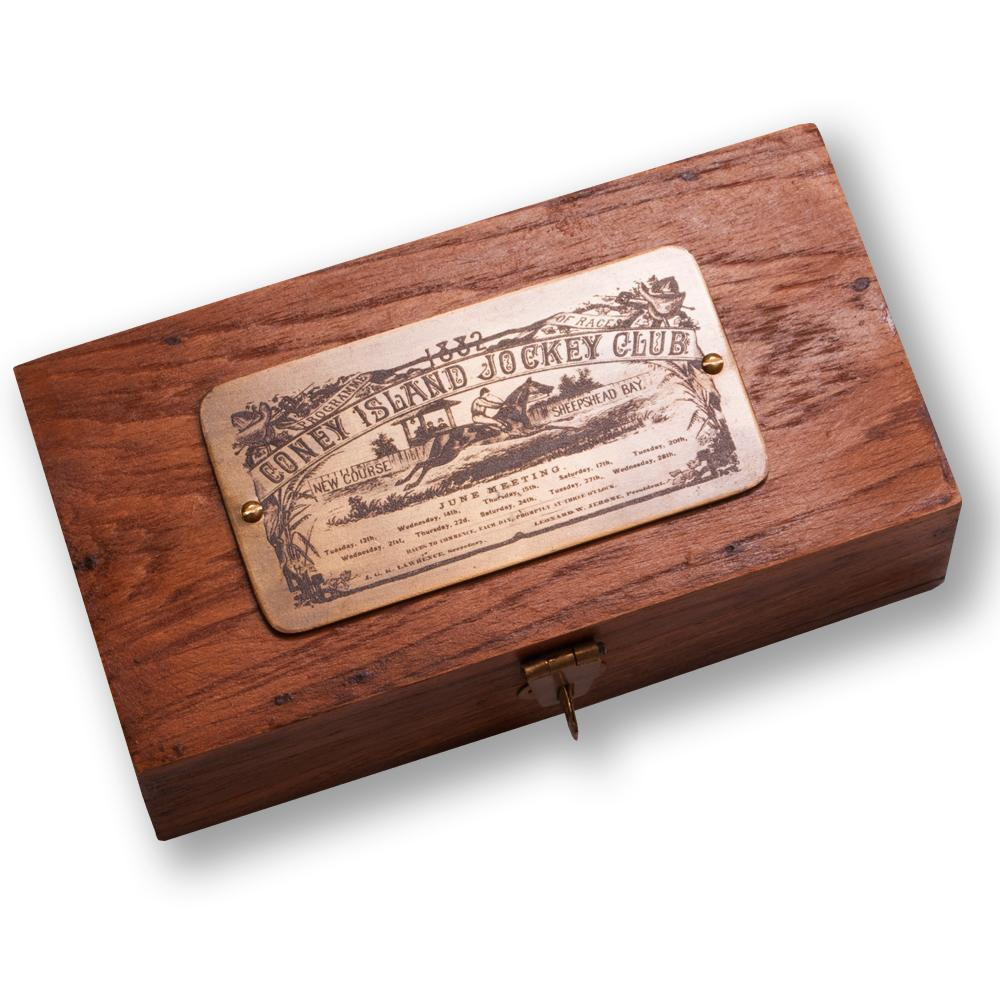 Jockey Club Wood Desk Box