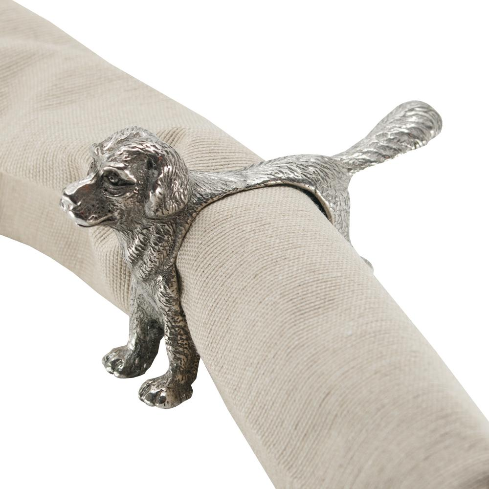 Golden Retriever Pewter Napkin Ring