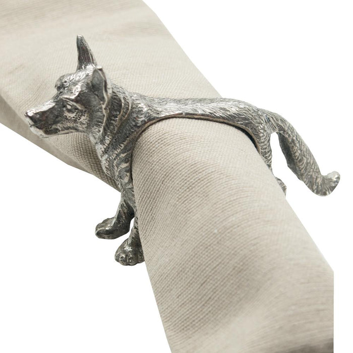 German Shepherd Pewter Napkin Ring