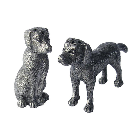 Labardor Retrievers Pewter Salt & Pepper Shakers