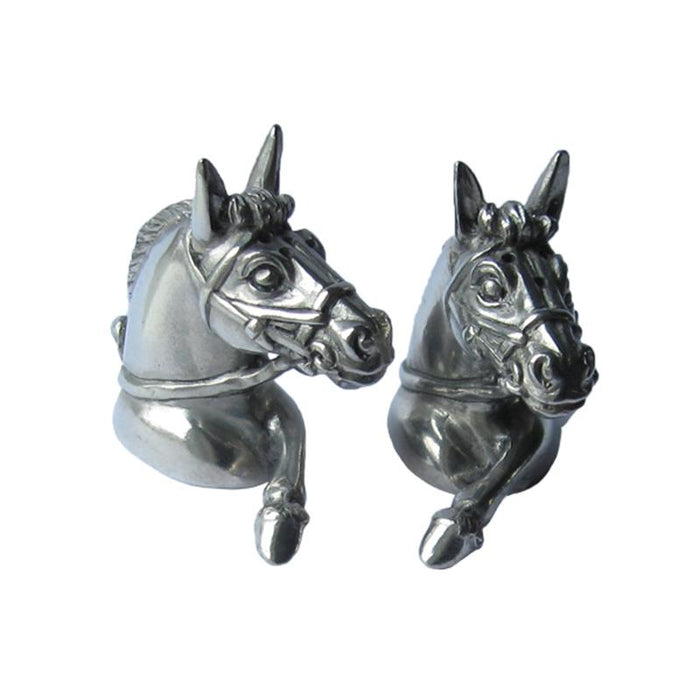 Bridled Horses Pewter Salt & Pepper Shakers