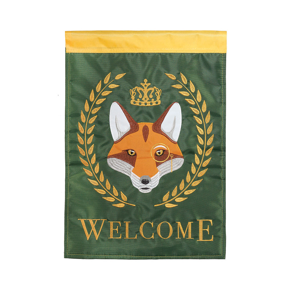 Royal Fox Welcome Garden Flag