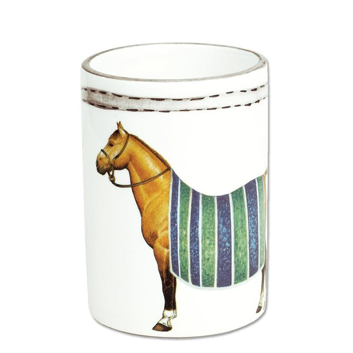 Devon Equestrian Porcelain Bathroom Cup