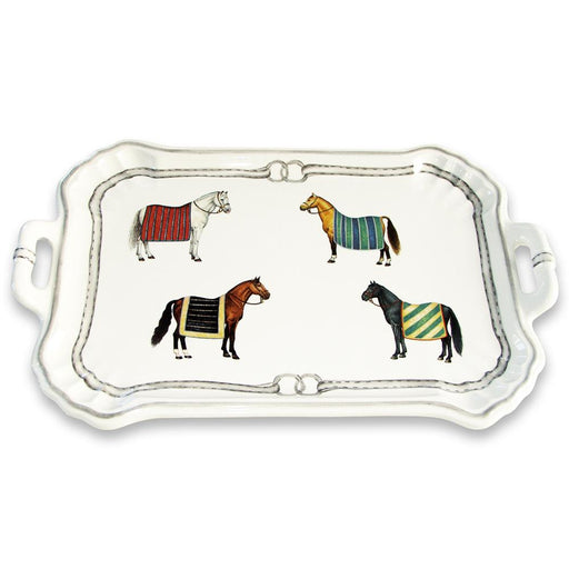 Devon Equestrian Porcelain Large Handled Tray