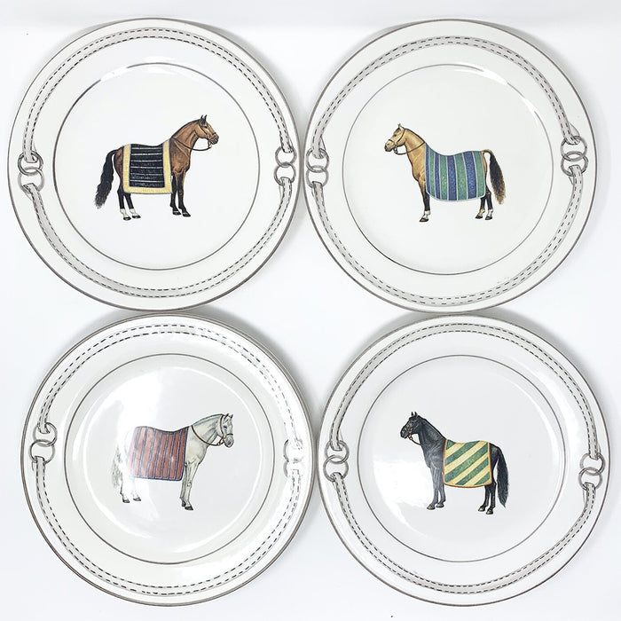 Devon Equestrian Porcelain Dinner Plates (Set of 4)