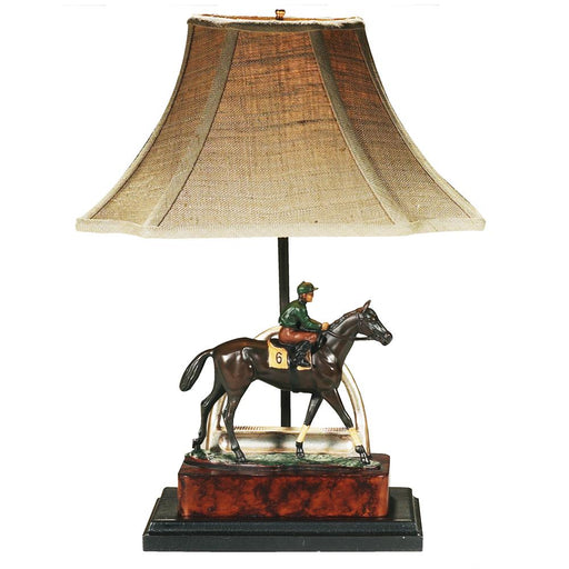 Riders Up! Horse and Jockey Desk Lamp
