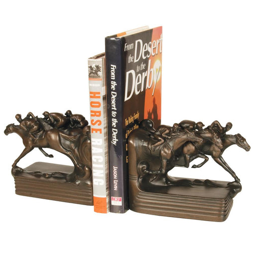 Final Furlong Horse Racing Bookends
