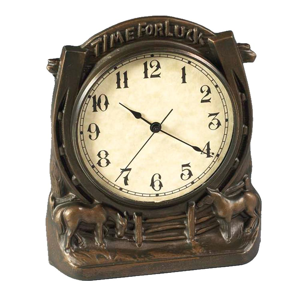 Time For Luck Horse Desk Clock