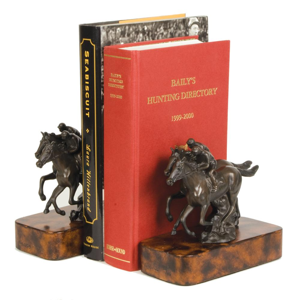 Match Race Horse Racing Bookends