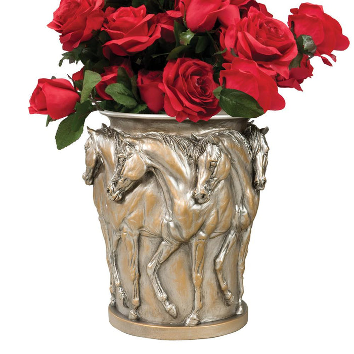Ring of Horses Centerpiece Vase