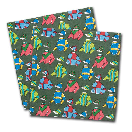 Vintage Racing Silks Cotton Napkins - Set of 4
