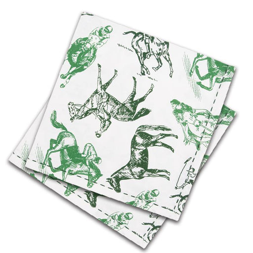 Equestrian Sketch Cotton Napkins - Set of 4