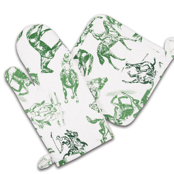 Equestrian Sketch Oven Mitt & Pot Holder