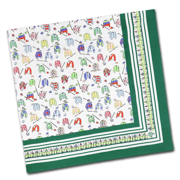 "Jockey Silks Cotton Tablecloth - 55"" x 55"""