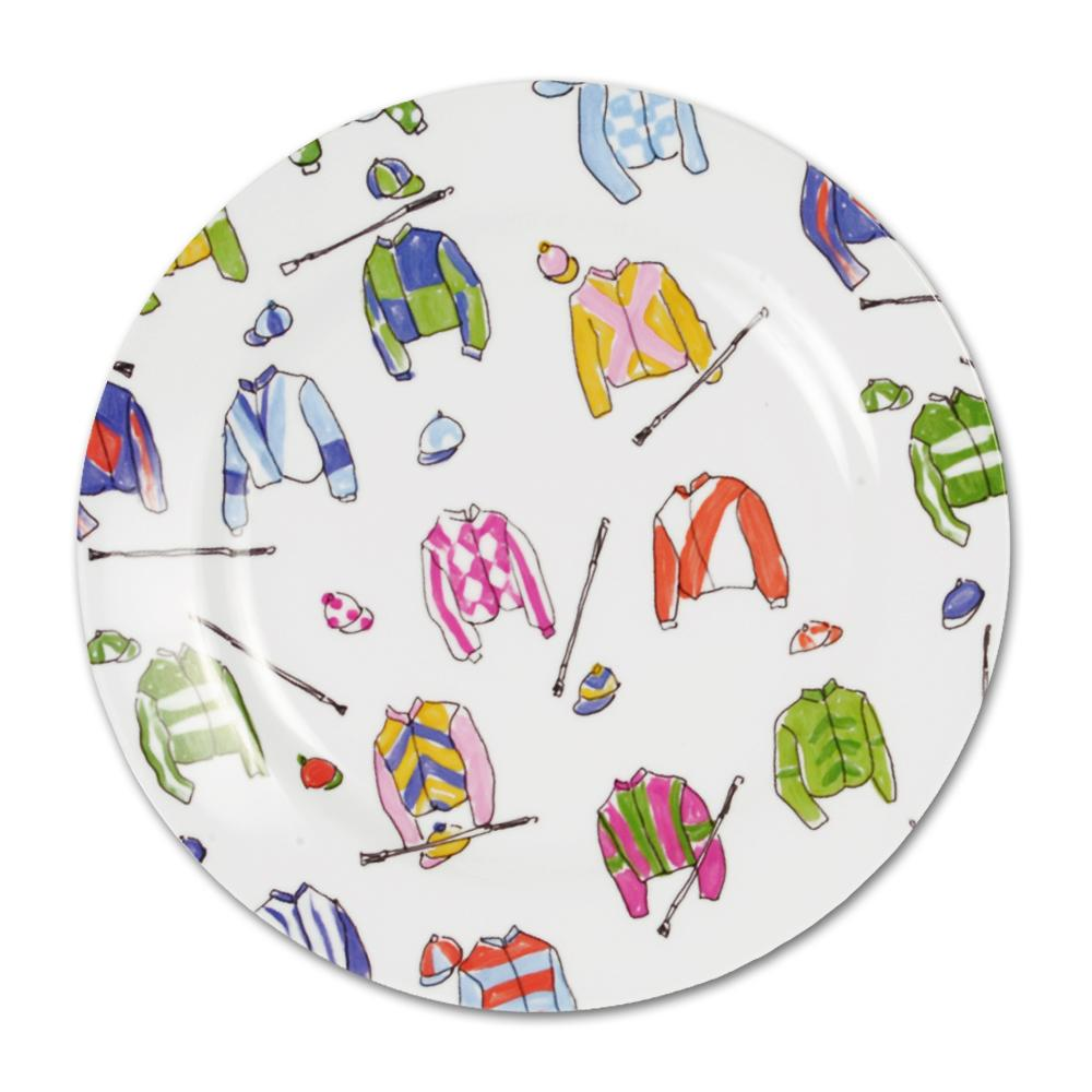 Jockey Silks Melamine Luncheon Plate