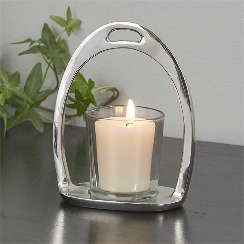 Equestrian Stirrup Chrome Votive Holder