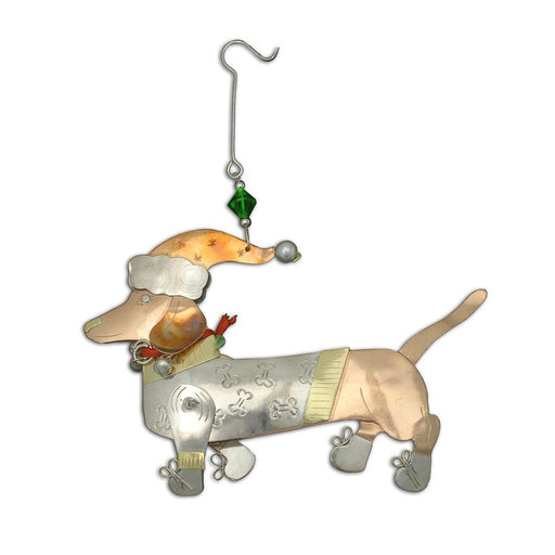 Dascher the Dachshund Ornament
