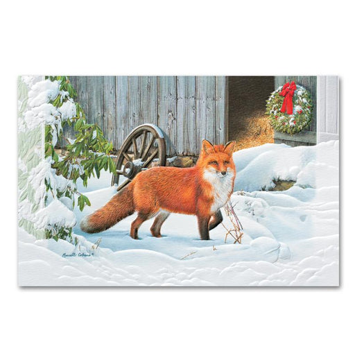 A Frosty Walk - Fox Embossed Christmas Card