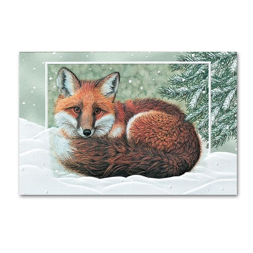 Winter Fox Embossed Christmas Cards