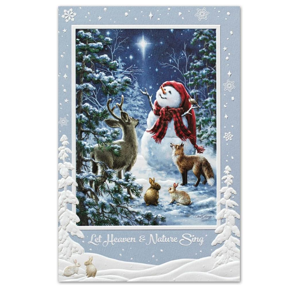 Heaven & Nature Sing Embossed Christmas Cards