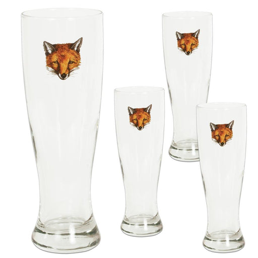 Fox Mask Pilsner Glass (set of 4)