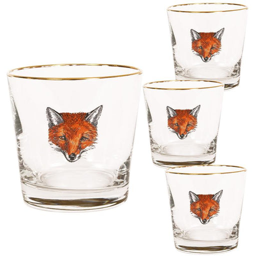 Fox Mask Tapered Single Old Fashion (set of 4)