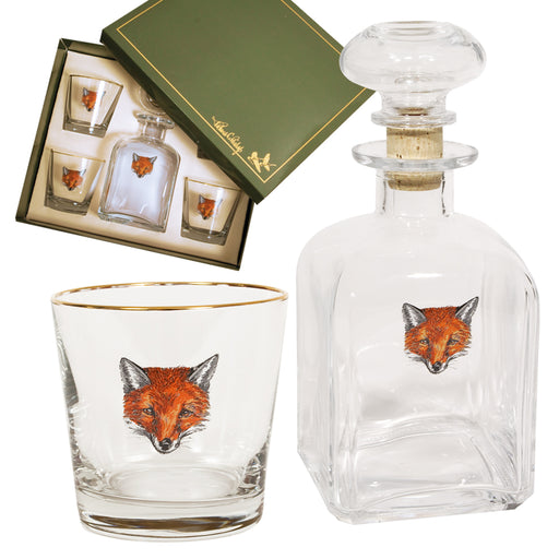 Fox Mask Decanter Set