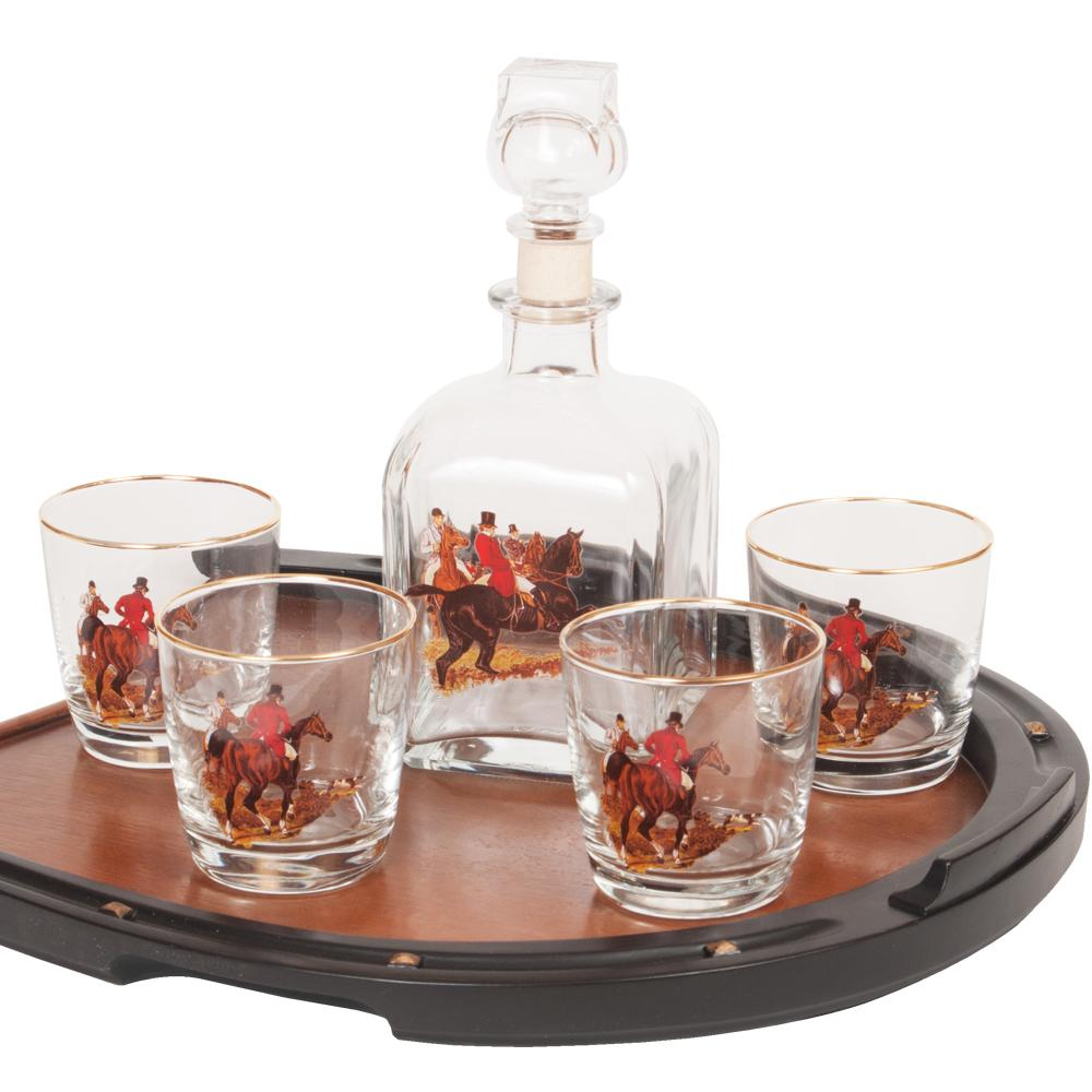 English Foxhunt Decanter Set