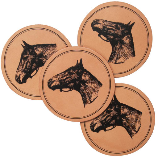 Thoroughbred Leather Coasters (set of 4)