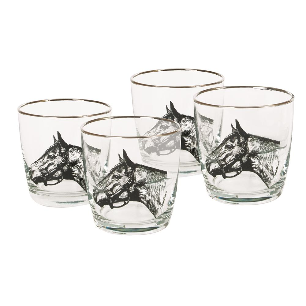 Thoroughbred Single Old Fashion Glass (set of 4)