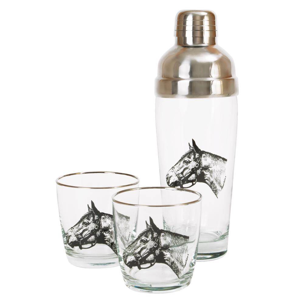 Thoroughbred Horse Cocktail Shaker Set
