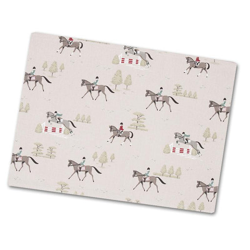 Bridlepath Horses Cotton Placemat by Sophie Allport