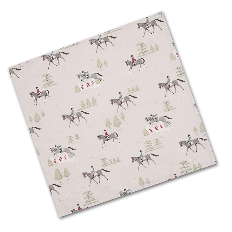 Bridlepath Horses Cotton Napkins by Sophie Allport (set of 4)