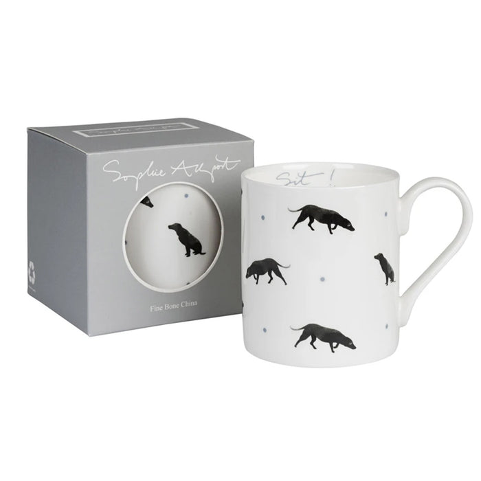 Black Labs Mug by Sophie Allport