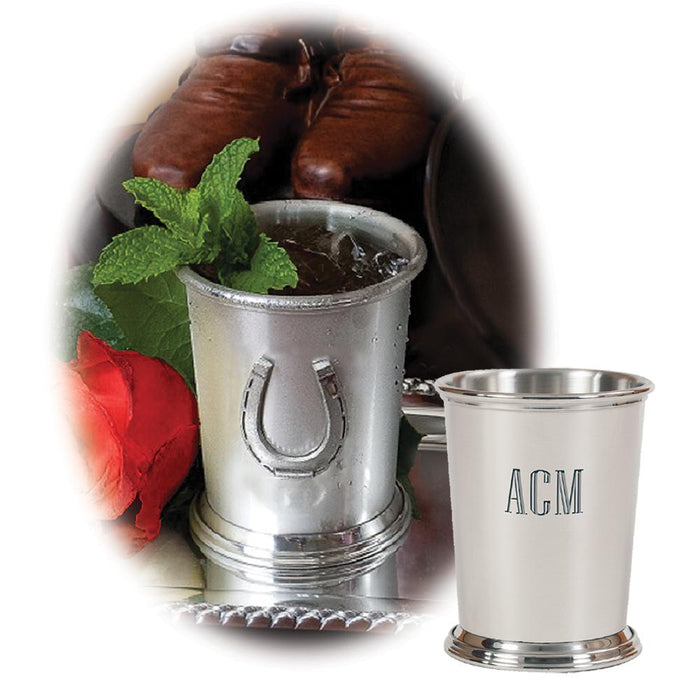 Horseshoe Mint Julep Cup - Pewter