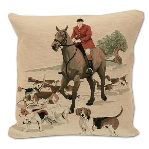 Walking the Hounds - Tapestry Foxhunting Pillow