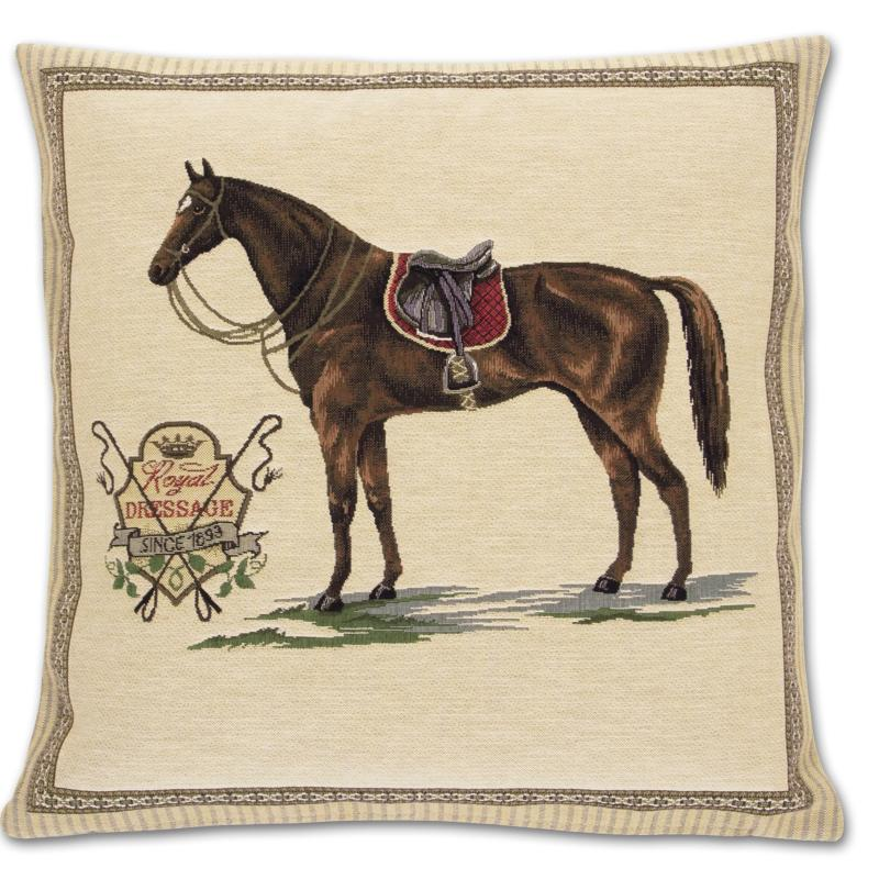 Royal Dressage Tapestry Pillow