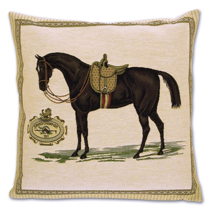 Grand Champion Ladies Horse Tapestry Pillow