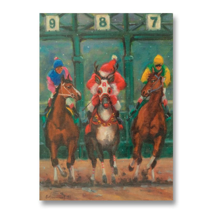 Holiday Entry Horse Racing Christmas Cards by Susany