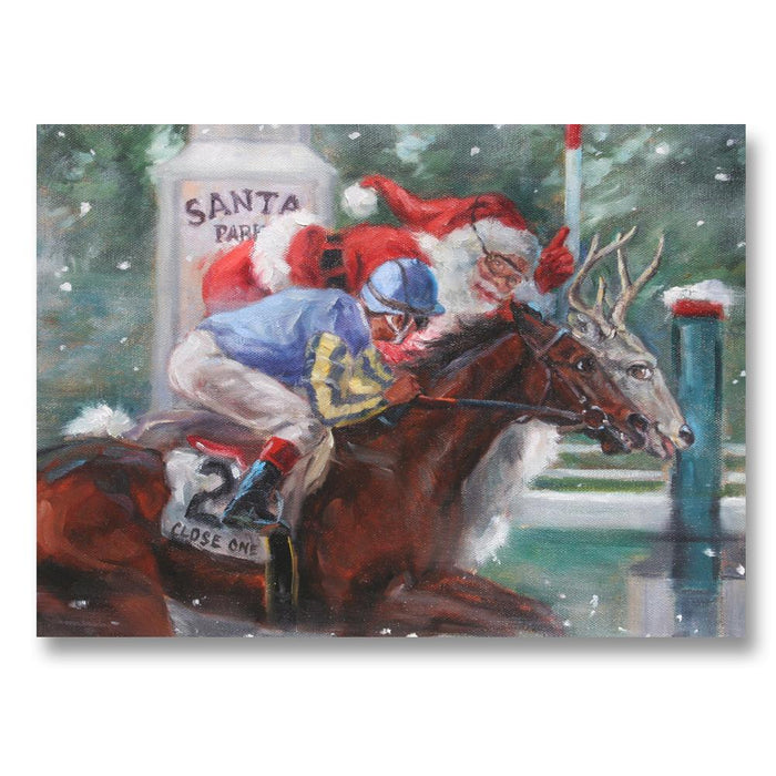 Santa Park Feature Race, Horse Racing Christmas Cards by Susany