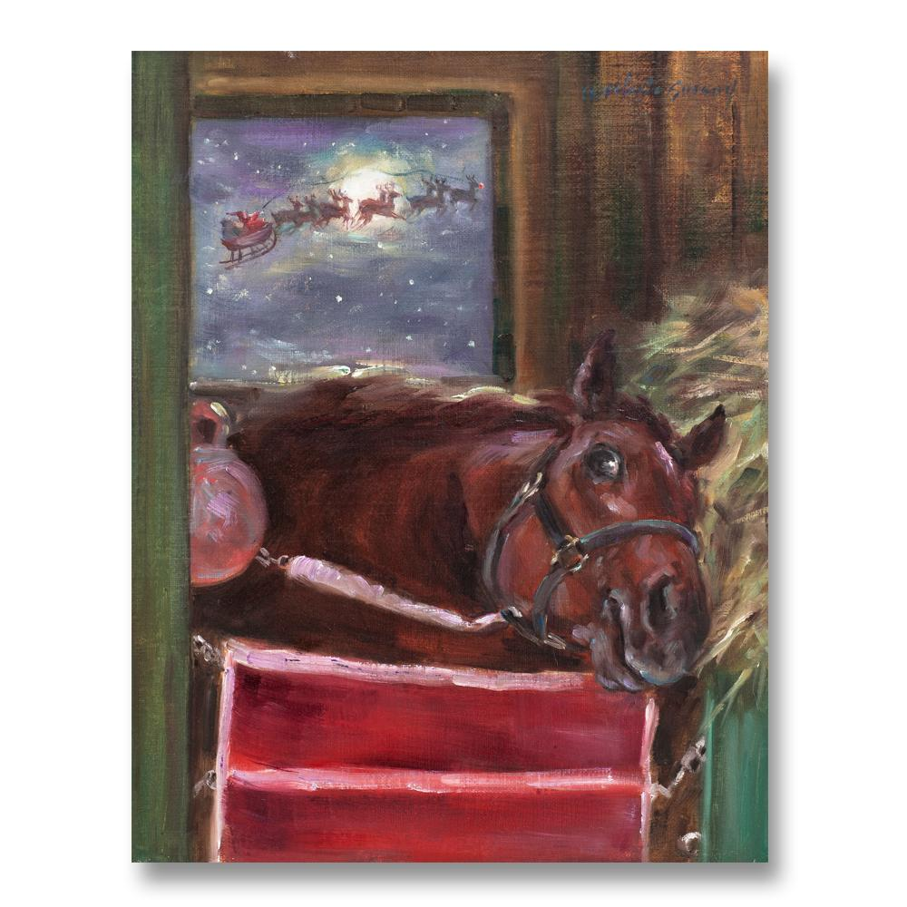 Santa Sighting - Equestrian Christmas Card by Susany