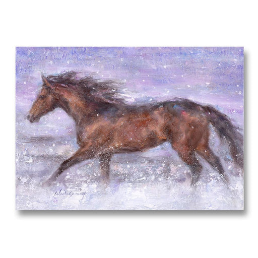 Snowy Strides - Holiday Horse Cards by Susany